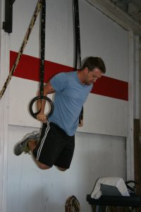 Stevie linking muscle ups in today's wod
